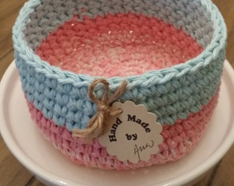 Crochet Basket Pattern Tutorial