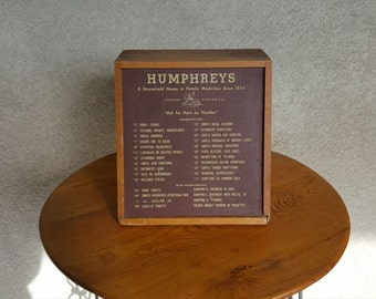 Vintage Humphrey's Apothecary Cabinet with Contents Intact, Vintage Pharmaceutical / Drugstore Cabinet 1940's