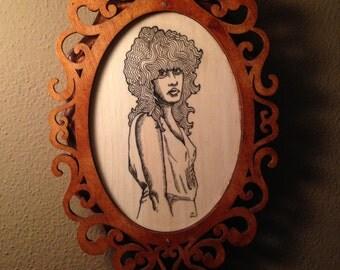 Line Art Plaque (Stevie Nicks)