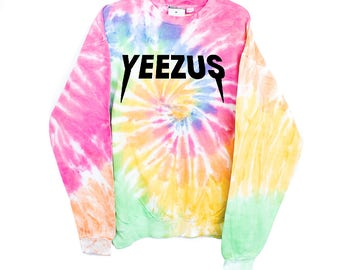 Tie-dye tiedye Yeezus Kanye West Bieber Belieber Purpose Tour Staff Justin Bieber Gucci Champion sweatshirt hoodie Purpose Tour Merchandise