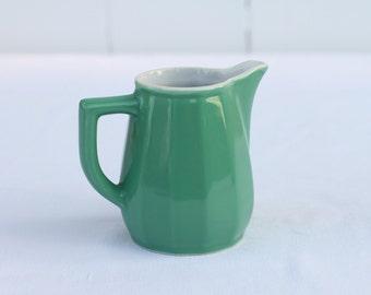 French vintage green milk jug