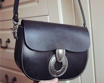 SALE! Leather Crossbody Purse/ Leather Shoulder Bag/Bohemian Bag/Vintage Purse/Crossbody Bag/Messanger Purse/Women Satchel/