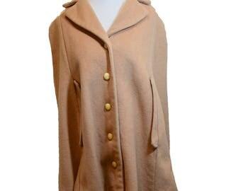 Fabulous Vintage 60's Wool Cape