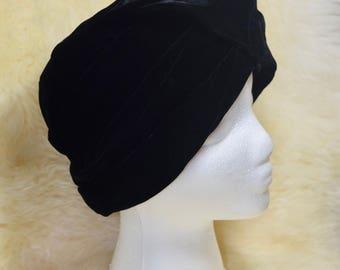 Vintage Betmar Black Velvet Hat