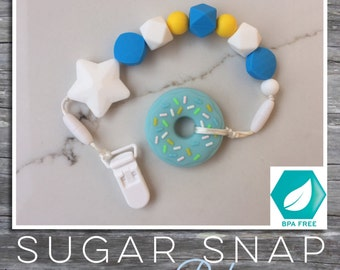 Delicious donut - silicone teether - bpa free - baby toddler toy - chew toy - baby shower gift - baby toy FDA Approved