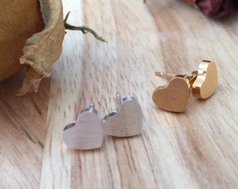 Heart Earrings, Stud Heart Earrings, Love Heart Earrings, Best Friend Earrings, Bridesmaid Earrings, Valentine Earrings