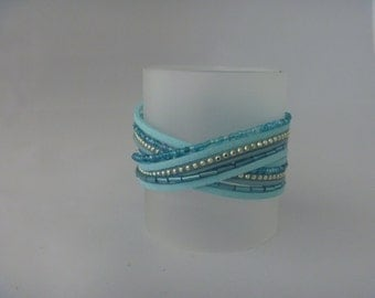 Fresh lightblue wrap bracelet