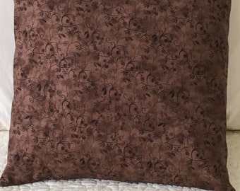 Brown Vine - Pillow Cover - Swappillow Covers - Gift - Envelope Closure - Decorative Pillow Cover - 16x16 - Throw Pillow