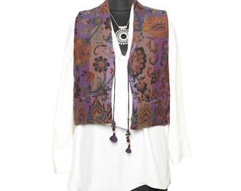 Sleeveless Waistcoat,women's wear, Wool, Lilac, Blue, Summer Jacket, Women's Vest, Printed Waistcoat, Spring Jacket, Woolen Waistcoat, Vest