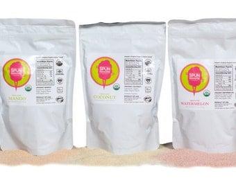 Spun Paradise USDA Organic Cotton Candy Sugar Floss Mixed Pack, 5 Flavor