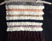 Textured Stripe Weaving | Woven Wall Hanging