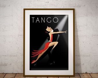 Poster Tango Digital Art, Wall decor