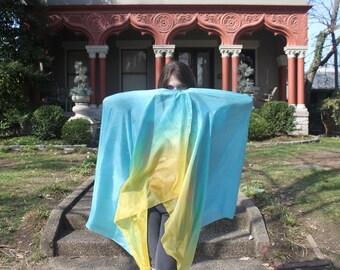 Tickle me Turqoise PETITE Silk Bellydance Veil Bellydance Costume