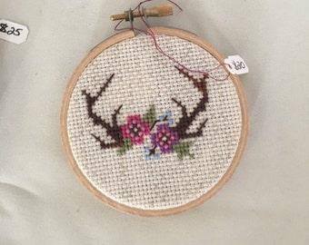 Fiona:  Deer Antlers w/Flowers