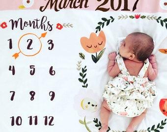 Baby Girl Blanket // Happy Flowers