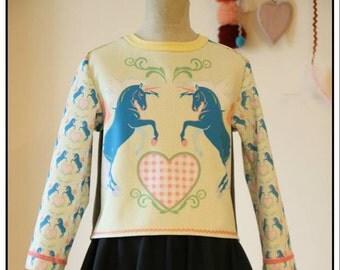 Faerie sweatshirt Love Unicorn for Girls
