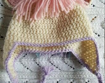 Unicorn Crochet Beanie