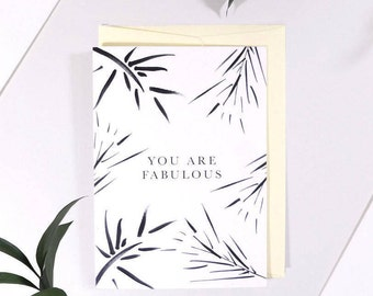 You Are Fabulous. Mothers Day. Greeting Card