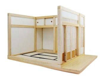 Miniature Japanese Room 1/16 Dollhouse