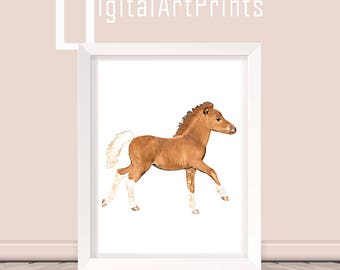 Cute Baby Horse Print Farm Animal Wall Art Cute Foal Print Baby Horse Printable Baby Horse Download Baby Horse Poster Horse instant download