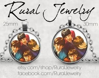 Beatles necklace pendant, Beatle pendant necklace, Paul McCartney, John Lennon, George Harrison, Ringo Starr, Beatles pendant, Rural Jewelry