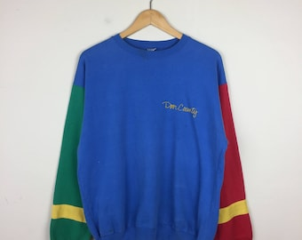 Vintage Primary Color Sweater, 90s Primary Color Shirt