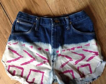 Vintage High Waisted Wrangler Denim Cut Off Shorts