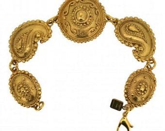 1980s French Ungaro Gold Tone Bracelet