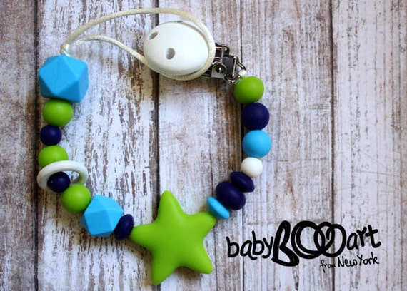 Silicone Pacifier Clip | Pacifier holder  | Teething clip holder |