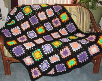 Granny Square Afghan 65 w x 42 L ** Ready to ship**