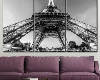 Paris, Eiffel Tower canvas, Large Paris France, Eiffel Tower Print, Paris art canvas, Paris eiffel tower, Paris canvas art