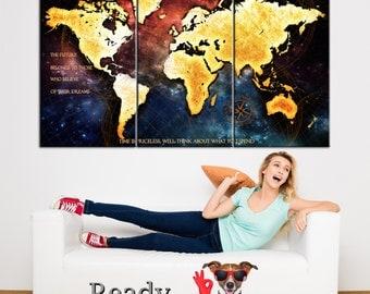 World Map Print Large Wall Art Canvas World Map World Map Art World Map Canvas  World Map Large Map Print Canvas Art World Map Print