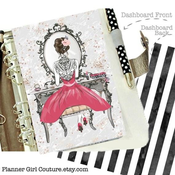 Stylish Planner Dashboard Fashion Girl By Plannergirlcouture
