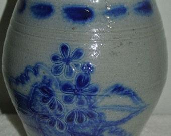 Eldreth Pottery Lancaster PA 1995 Salt Glazed Stoneware Vase