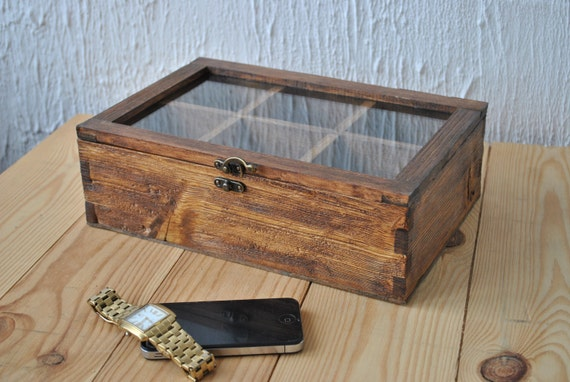 rustic men s watch box for 6 watches wood watch box watch rustic men s watch box for 6 watches wood watch box watch case watch box for men