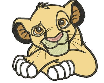Lion king Applique Design 9 sizes included.Machine embroidery design. lion Embroidery design PES,Kid Embroidery, embroidery design,Applique