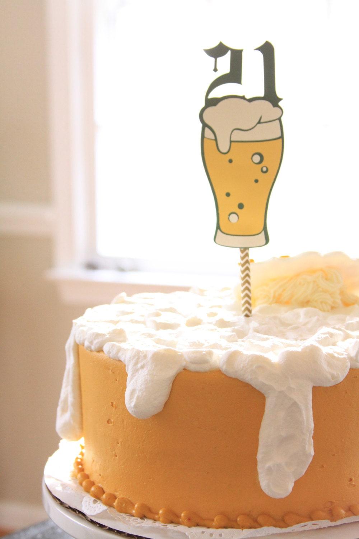 Craft Beer Birthday Cake