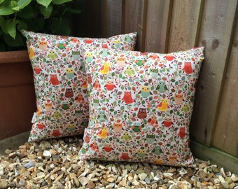 Forest owl cushions