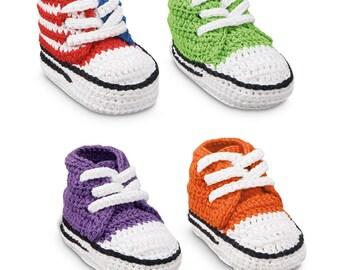 Hand Crocheted Sneaker Crib Shoe