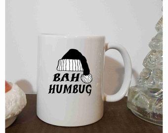 Bah Humbug, Coffee Mug, Christmas Grab Bag Gift, Funny Gift, Co Worker, Gift For Him For Her, Secret Santa, Stocking Stuffer
