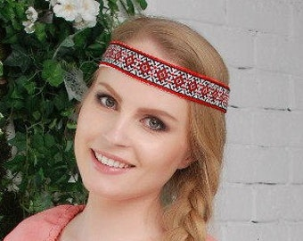 Russian headband, russian headdress, ochelye, slavic head bandage, slavic headdress