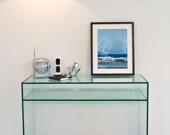 Crystal Glass Console Table – With Shelf