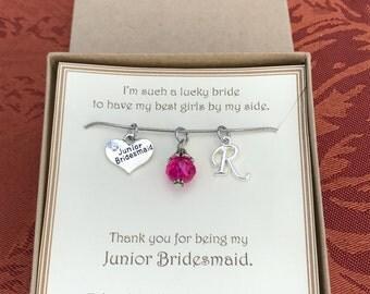 Thank you for being my Junior Bridesmaid - C197 - Thank you Junior Bridesmaid Gift - Junior Bridesmaid Jewelry - Junior Bridesmaid Necklace