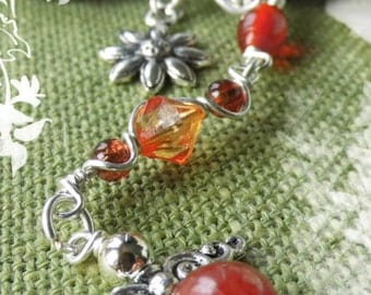 "Key ring ""small guardian angel"" orange"