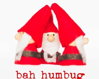Bah Humbug Elf Christmas cards - pack of six