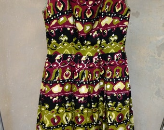 Vintage dress pattern in Piquet, Prada style
