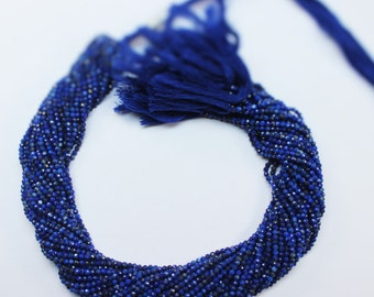 "one strand lapis lazuli rondelle micro faceted 2mm 13"" inches.  Amazing Quality (BF2M007)"