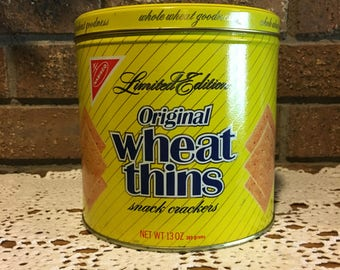 1987 Nabisco Wheat Thins vintage tin