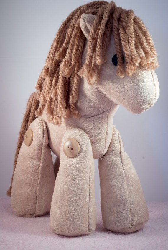 Elvis the brown suede pony made out of your babygro or clothing