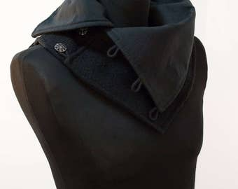 Cowl scarf LARP Gothic urban rogue assassin collar hood collar shawl collar size M/L